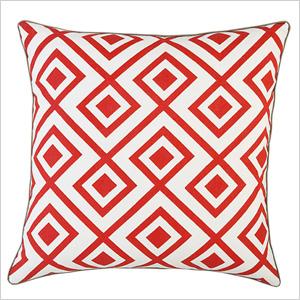 Red diamonds pillow