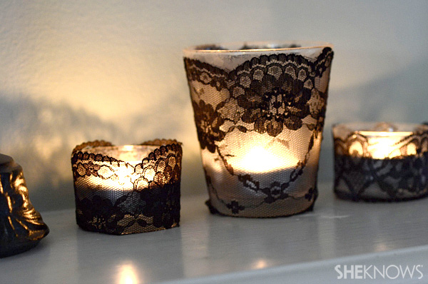 Classy way to spruce up candles