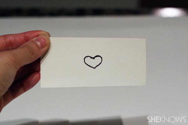 Draw heart shape