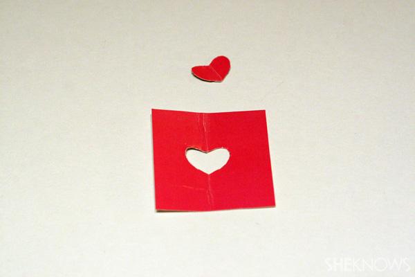 DIY Heart printed denim