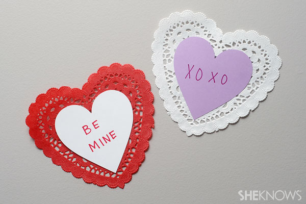 Doily Valentines