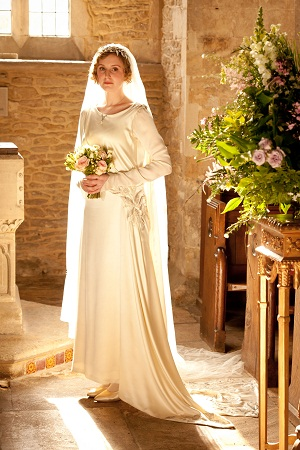 Edith in her wedding gown