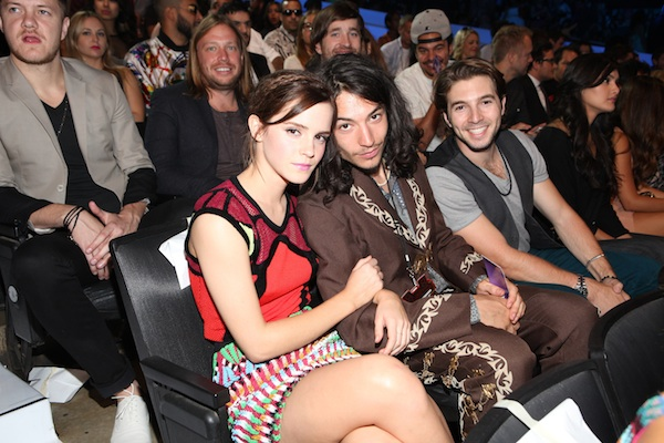 Emma Watson and Ezra Miller at the 2012 MTV Movie Awards.