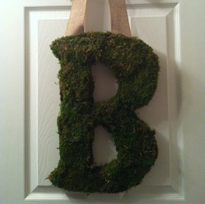 Moss monogram wreath