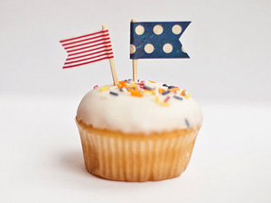 Cupcake flags