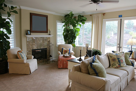 How to fake a clean house for Artificial tree for living room