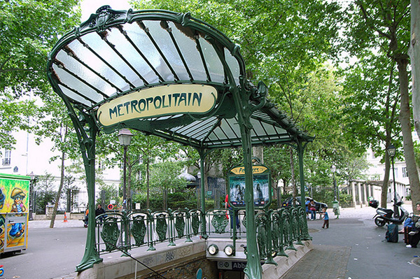 French metro station
