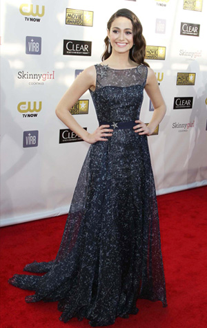 Emmy Rossum at the 18th Annual Critics' Choice Movie Awards
