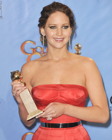 get the look jennifer lawrences golden globes hair vert Jennifer Lawrence nomine aux Oscars!!