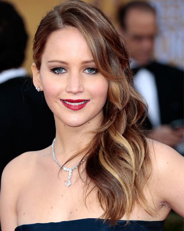 Jennifer Lawrence's 2013 SAG Awards hair