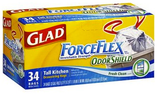 Glad® ForceFlex® OdorShield® trash bags