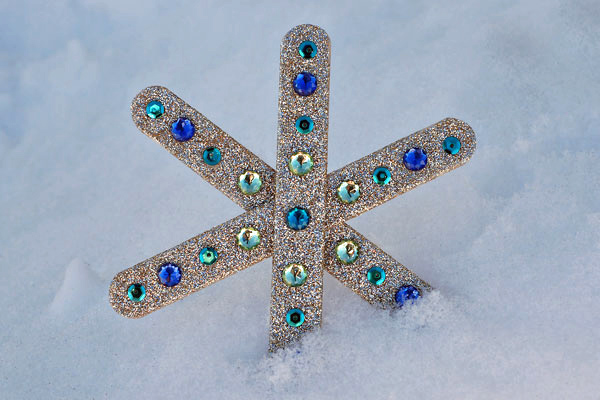 Popsicle-stick snowflake