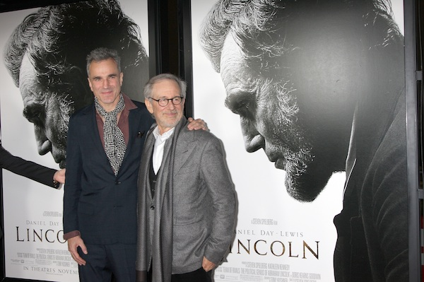 Daniel Day Lewis and Steven Spielberg at Lincoln premiere.