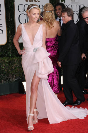 Charlize Theron at the Golden Globes