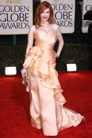 Christina Hendricks at the 2010 Golden Globes