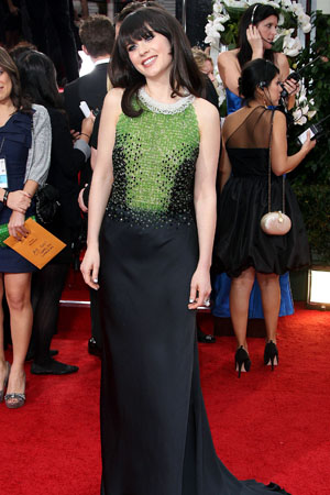 Zooey Deschanel at the 2012 Golden Globes