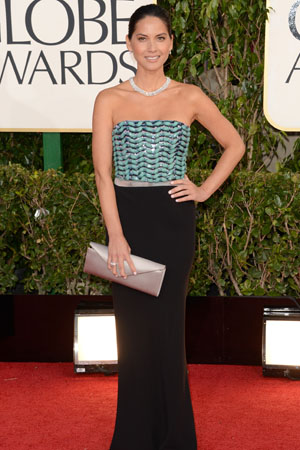 Olivia Munn at the Golden Globes