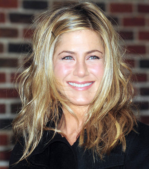 Jennifer Aniston with wavy hair