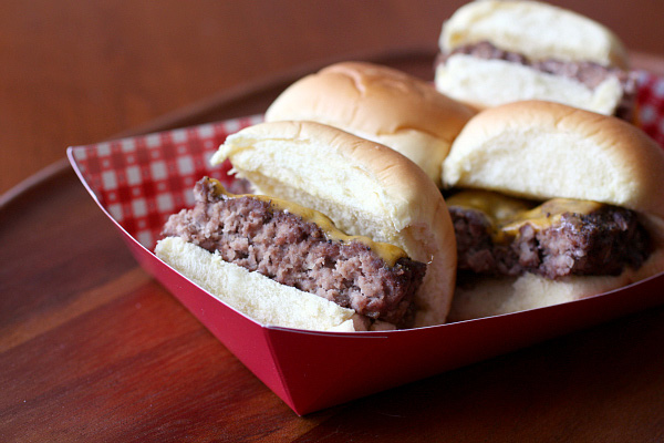 homemade white castle burgers