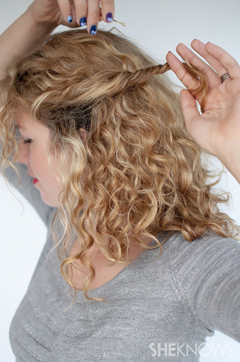 How to create a curly twist -- Step 1