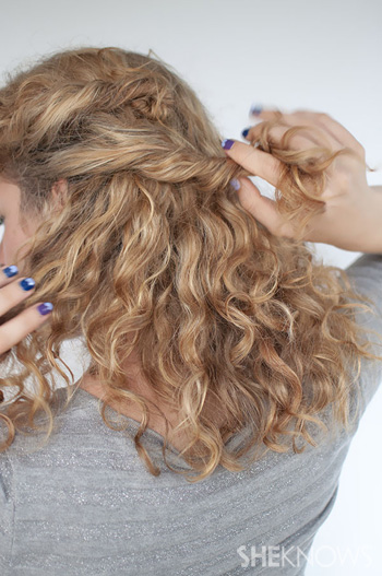 The curly hairstyle that's as easy as twist and pin