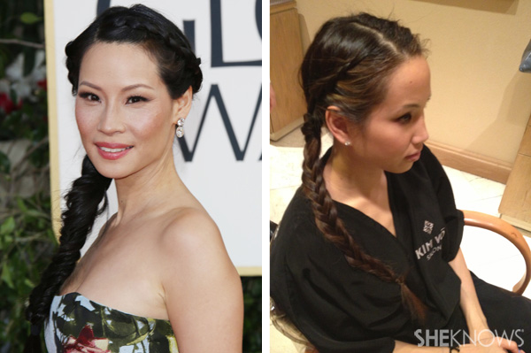 Get Lucy Liu's hairstyle from the 2013 Golden Globes