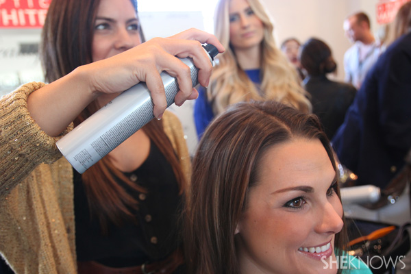 Prep hair with dry shampoo