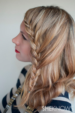 Lace braid hairstyle tutorial