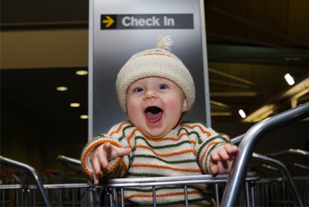 Infant at airport