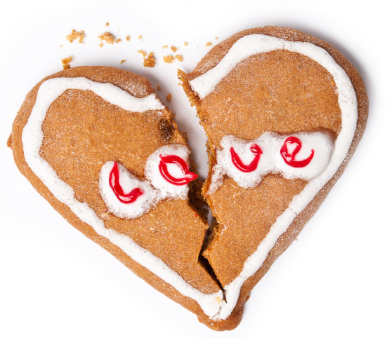 Broken hearted cookie