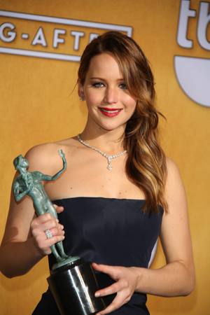 Jennifer Lawrence at the SAG Awards