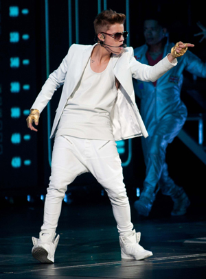 Justin Bieber performs onstage