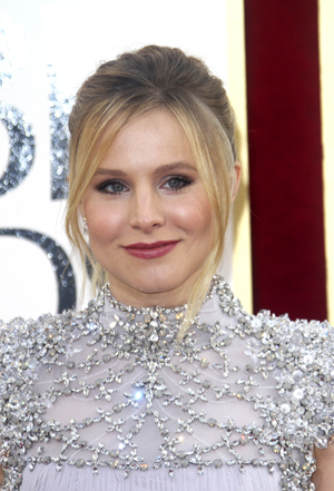 Kristen Bell in a silver dress