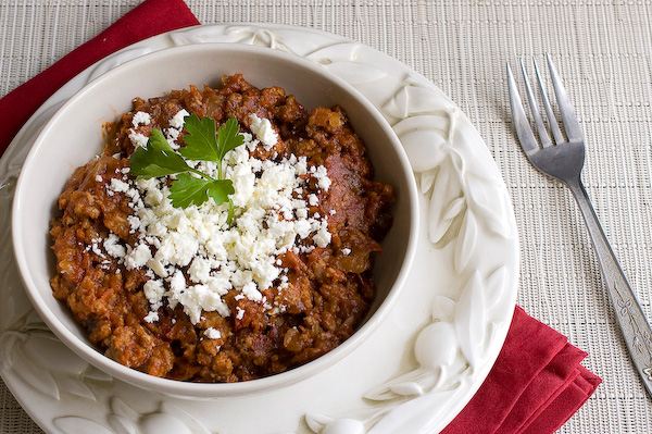 Lamb and feta chili