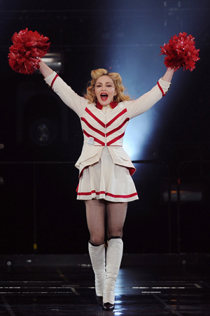 Madonna as a cheerleader