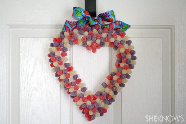 Valentine's Day Gumdrop Wrea