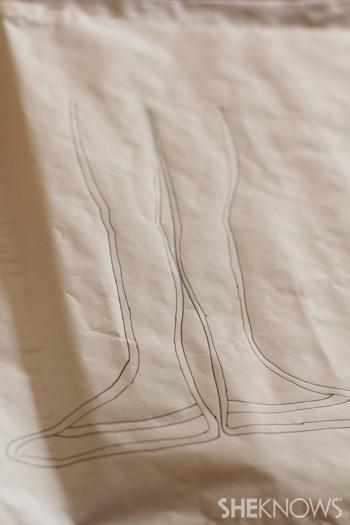 Sketch onto wax paper