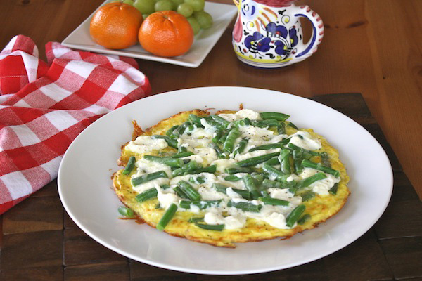 Green bean and ricotta frittata