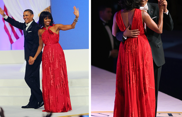Michelle Obama's red Jason Wu gown