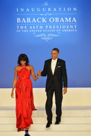 Michelle Obama: First lady in red