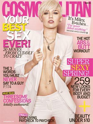Miley Cyrus on the Cover of Cosmopolitan