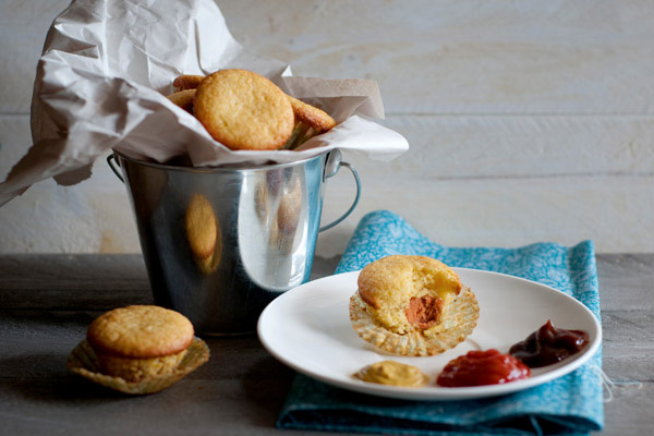 Mini corn dog muffins recipe