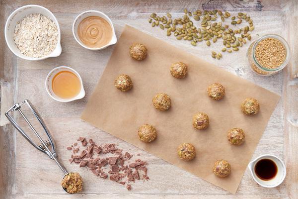 No bake granola poppers