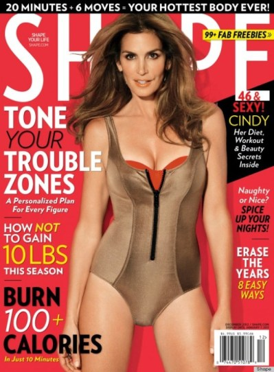 Cindy Crawford December 2012 Shape magazine
