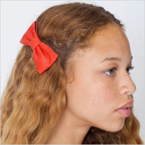 Red hair bow by American Apparel