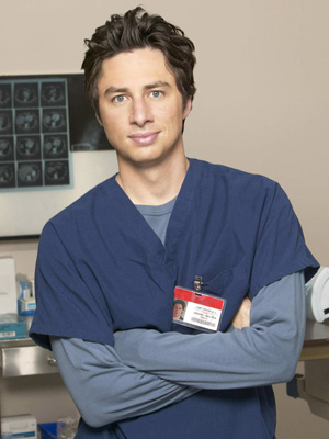 "Zach Braff, Dr. John ""JD"" Dorian on Scrubs"