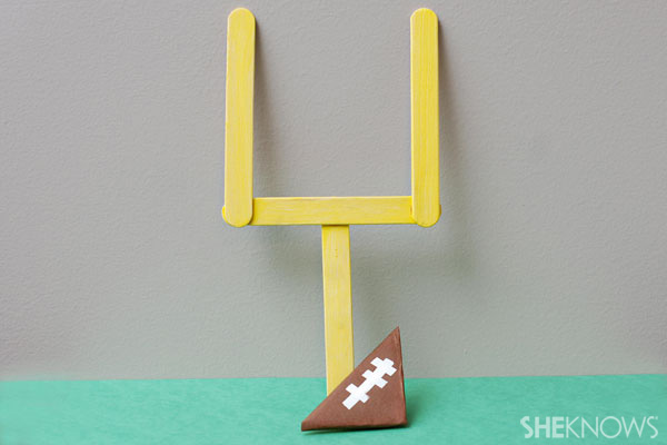 Paper football and goal