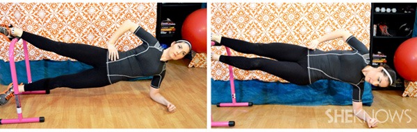 Side plank with hip adduction 1