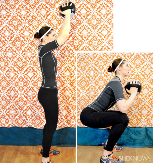 Squat Press with medicine ball