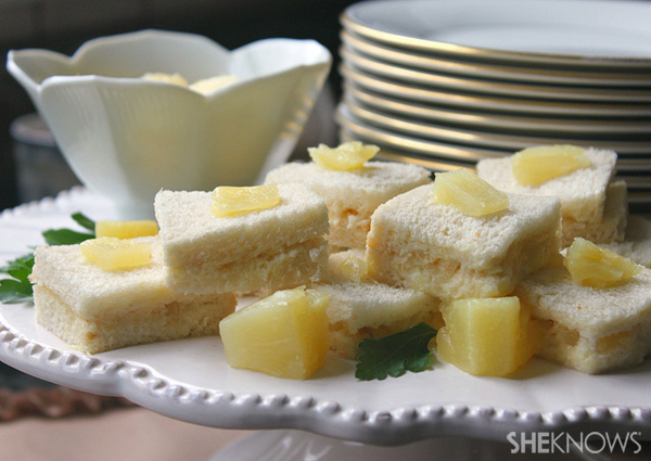 Pineapple tea sandwiches recipe
